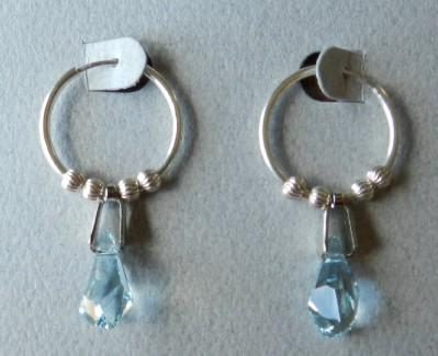 Swarovski polygon drop earrings for pierced ears made in the USA